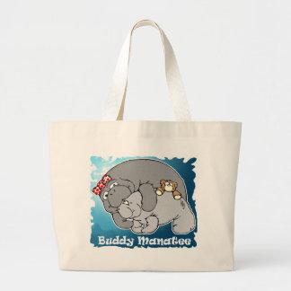 Buddy Manatee Kiss Tote Bag