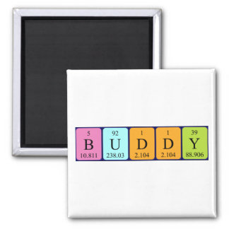 Buddy periodic table name magnet