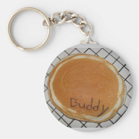 Buddy the Pancake Basic Round Button Key Ring