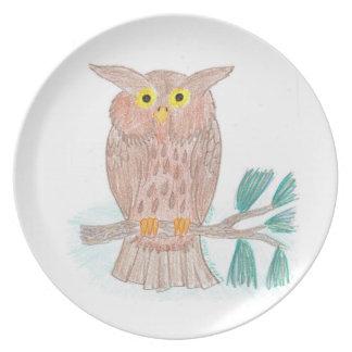 Buddy's Owl Plate