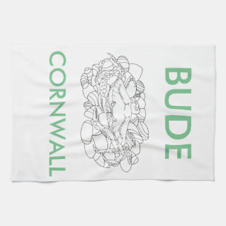 Bude Cornwall Cololuring book apparel - Shore Crab Tea Towel