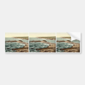 Bude, entrance to harbor and breakwater, Cornwall, Car Bumper Sticker