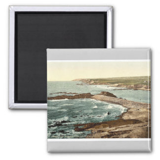 Bude, entrance to harbor and breakwater, Cornwall, Magnet