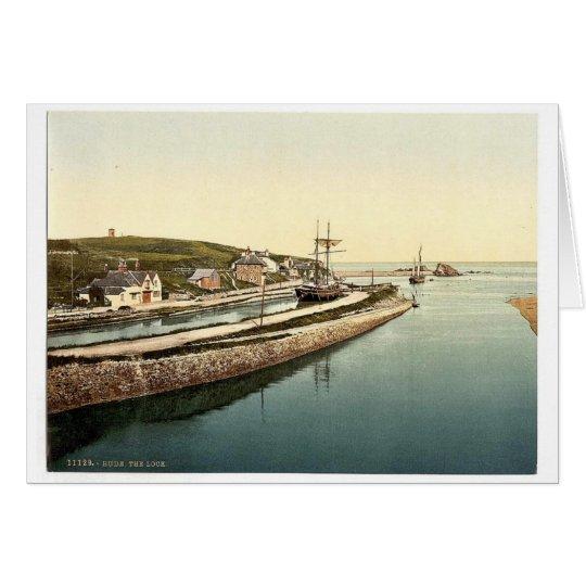 Bude, the lock, Cornwall, England vintage Photochr Card