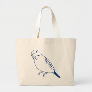 Budgerigar Large Tote Bag