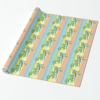 budgerigar wrapping paper
