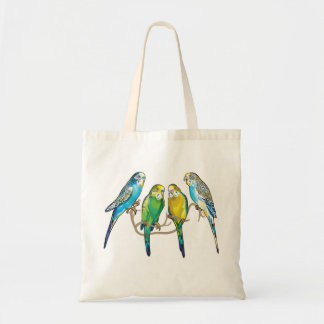 budgerigars budget tote bag