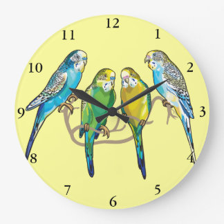 budgerigars large clock