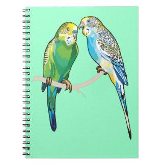 budgerigars notebooks