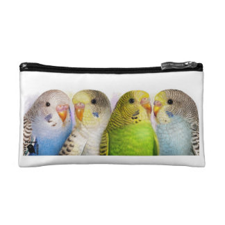 Budgerigars realistic painting makeup bags
