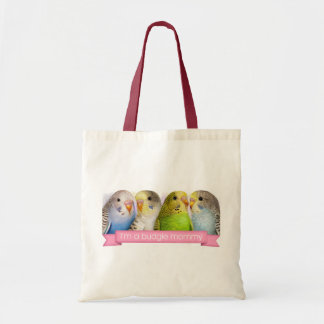 Budgerigars realistic painting budget tote bag