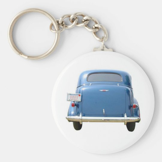 Budget Gift - Vintage Blue Chevy Father's Day Basic Round Button Key Ring