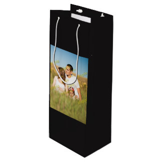 Budget Special Family Photo Template Wine Gift Bag