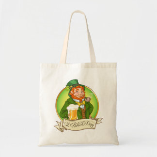 Budget tote bag with St. Patrick motive