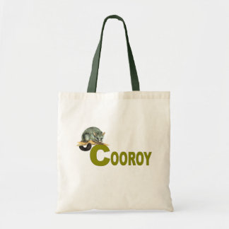 Budget Tote - Cooroy Possum - Olive Canvas Bags