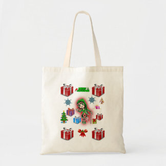 Budget tote handbag christmas red box gift white