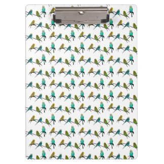 Budgie Frenzy Clipboard (choose colour)