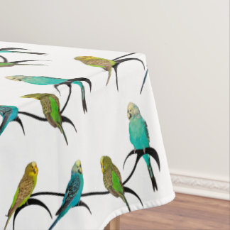 Budgie Frenzy Tablecloth (choose colour)
