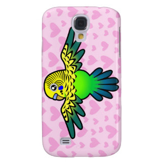 Budgie Love (add your pern!) Galaxy S4 Case