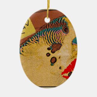 Budgie Love Ceramic Oval Decoration