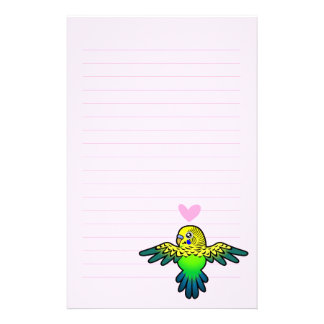Budgie Love Personalised Stationery