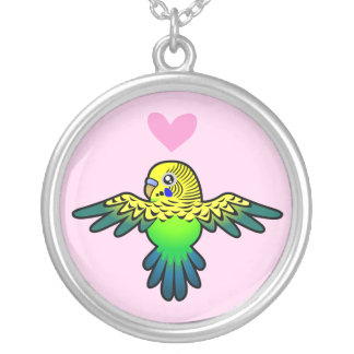 Budgie Love Silver Plated Necklace