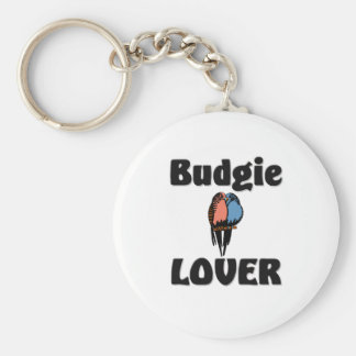 Budgie Lover Basic Round Button Key Ring