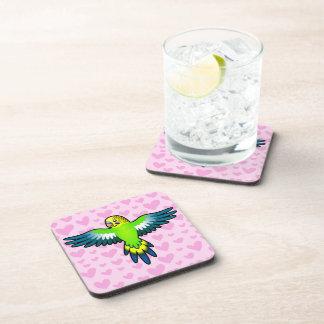 Budgie Parakeet Love Drink Coasters