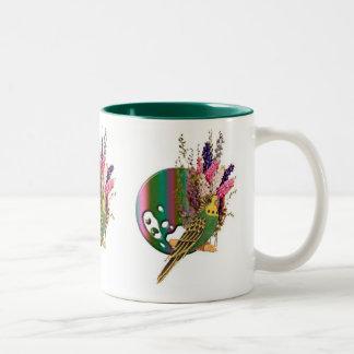 Budgie Two-Tone Coffee Mug