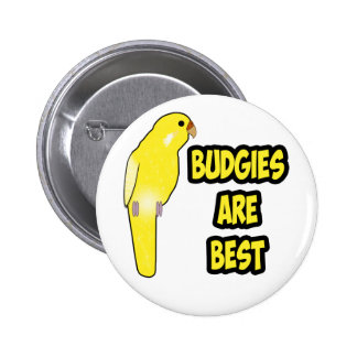 Budgies Are Best Badge Pinback Buttons