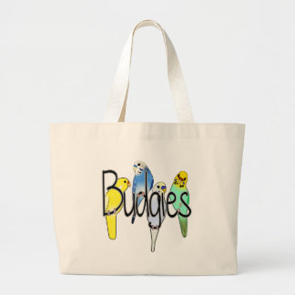 Budgies Large Tote Bag
