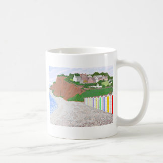 Budleigh Salterton beach huts Basic White Mug