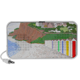 Budleigh Salterton beach huts Laptop Speakers
