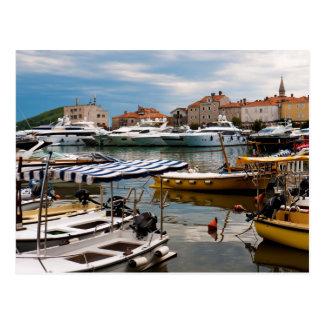 Budva Marina Postcard