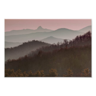 Bue Ridge Mountain Sunset in North Carolina Photo Print