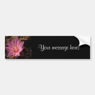 Bueatiful Pink Flower Bumper Sticker