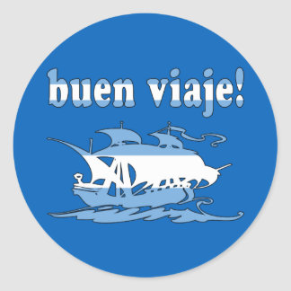 Buen Viaje - Good Trip in Argentine - Vacations Round Sticker