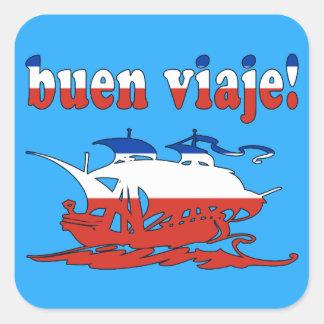 Buen Viaje - Good Trip in Chilean - Vacations Square Sticker