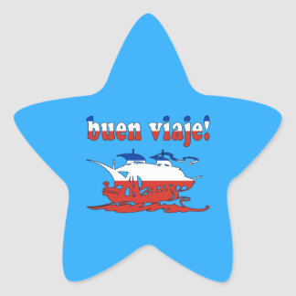 Buen Viaje - Good Trip in Chilean - Vacations Star Sticker