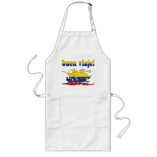 Buen Viaje - Good Trip in Colombian - Vacations Long Apron