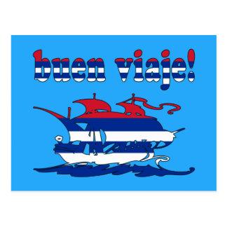 Buen Viaje - Good Trip in Cuban - Vacations Postcard