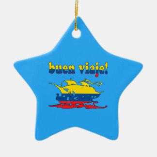 Buen Viaje - Good Trip in Ecuadorian - Vacations Christmas Ornament