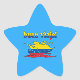 Buen Viaje - Good Trip in Ecuadorian - Vacations Star Sticker