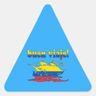 Buen Viaje - Good Trip in Ecuadorian - Vacations Triangle Sticker