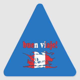 Buen Viaje - Good Trip in Peruvian - Vacations Triangle Stickers