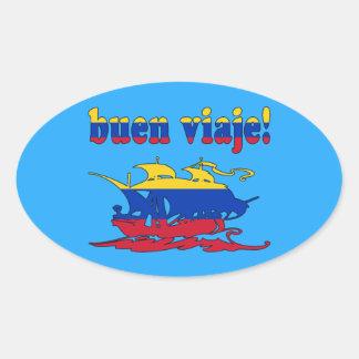 Buen Viaje - Good Trip in Venezuelan - Vacations Oval Sticker
