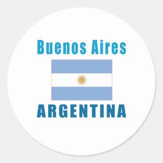 Buenos Aires Argentina capital designs Classic Round Sticker