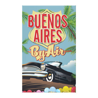 Buenos Aires, Argentina vacation poster Canvas Print