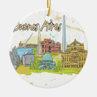 Buenos Aires Christmas Ornament