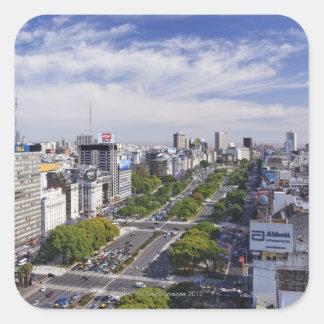 Buenos Aires Skyline Square Sticker